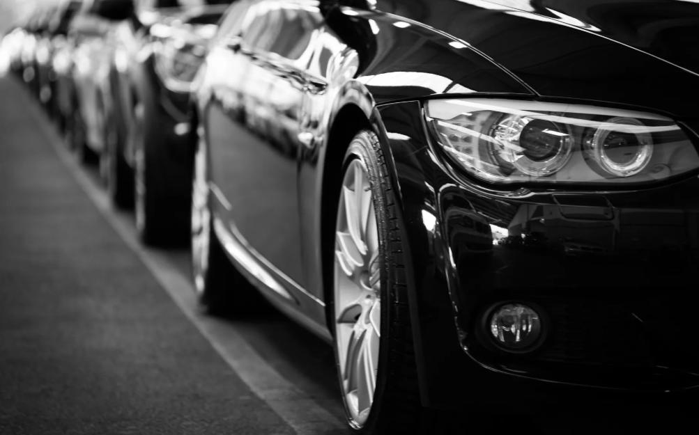 black cars in line